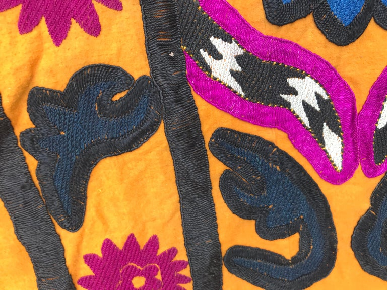 Antique Uzbek Suzani Embroidery For Sale 5