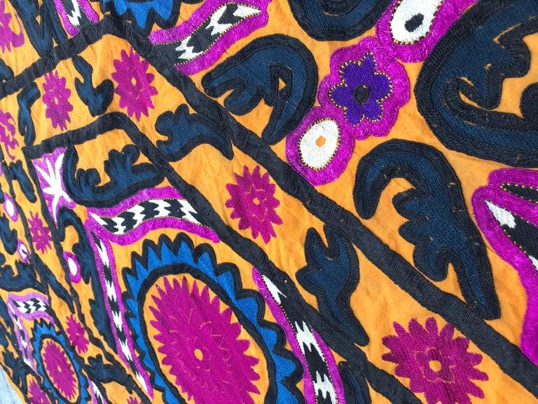 Antique Uzbek Suzani Embroidery 6