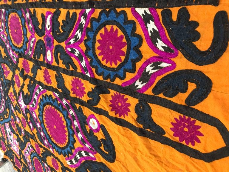 Antique Uzbek Suzani Embroidery 7