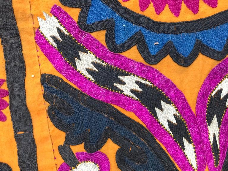 Antique Uzbek Suzani Embroidery 8