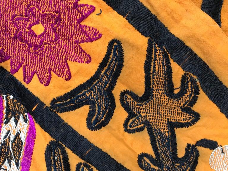 Antique Uzbek Suzani Embroidery 9
