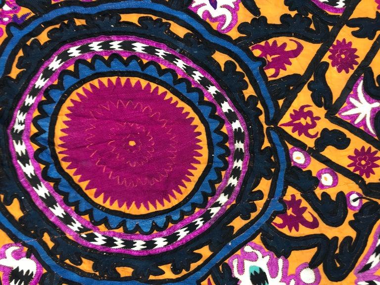 Antique Uzbek Suzani Embroidery 11