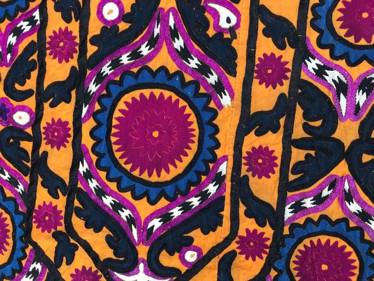Embroidered Antique Uzbek Suzani Embroidery