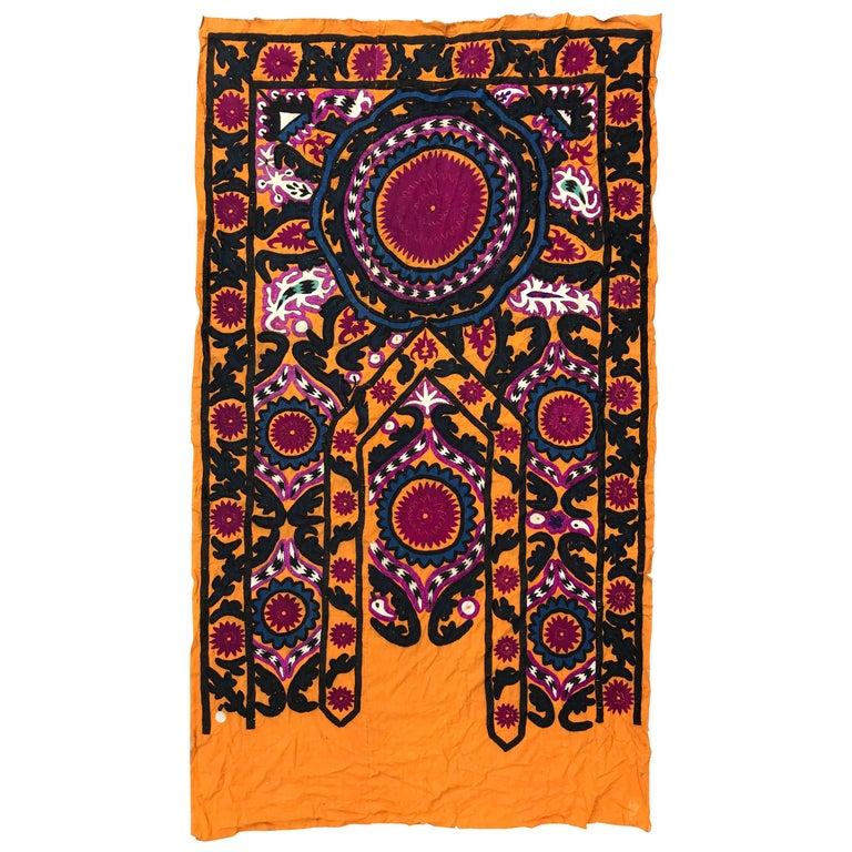 Antique Uzbek Suzani Embroidery For Sale