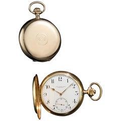 Antique Vacheron & Constantin 14kt Gold Pocket Watch Retail Carl Ranch, 1918
