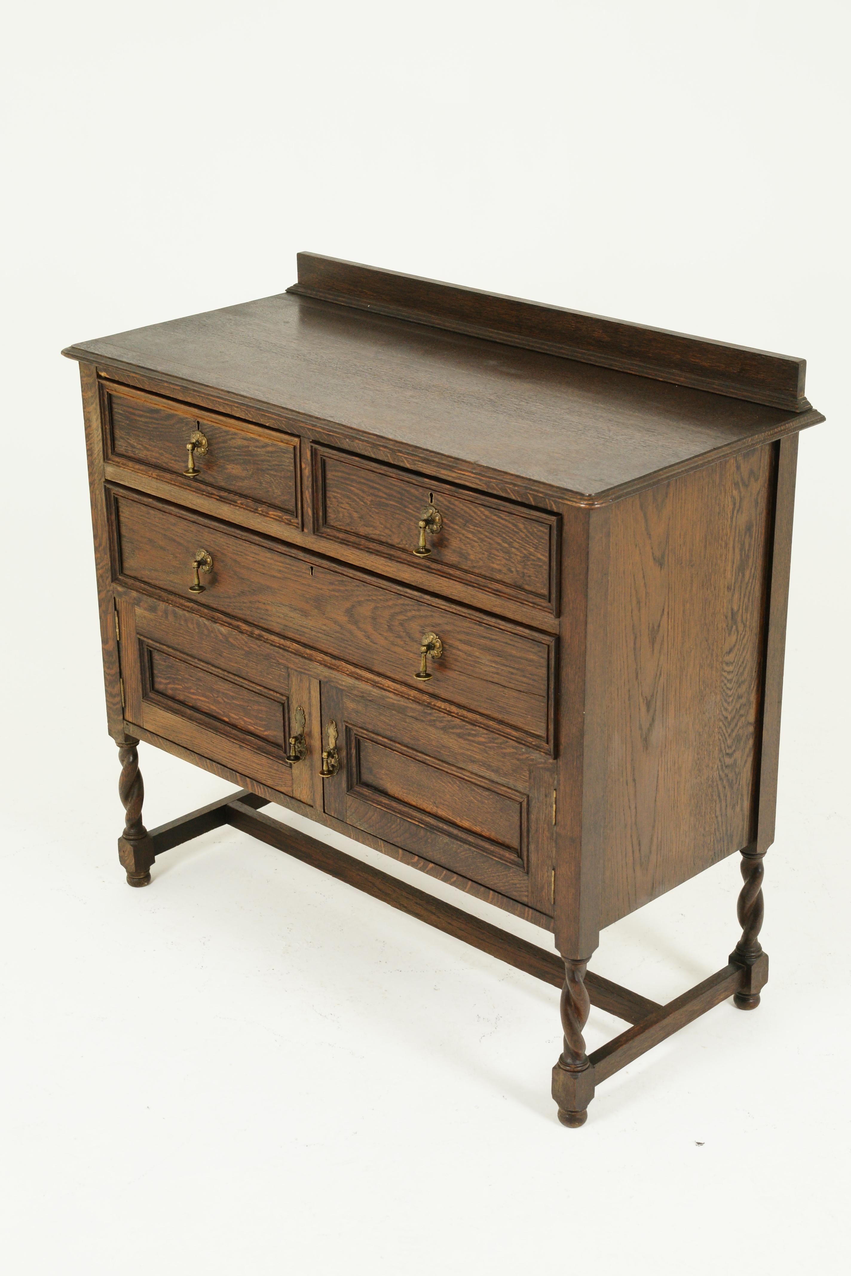 Antique Vanity Antique Oak Dresser Jacobean Revival Tiger