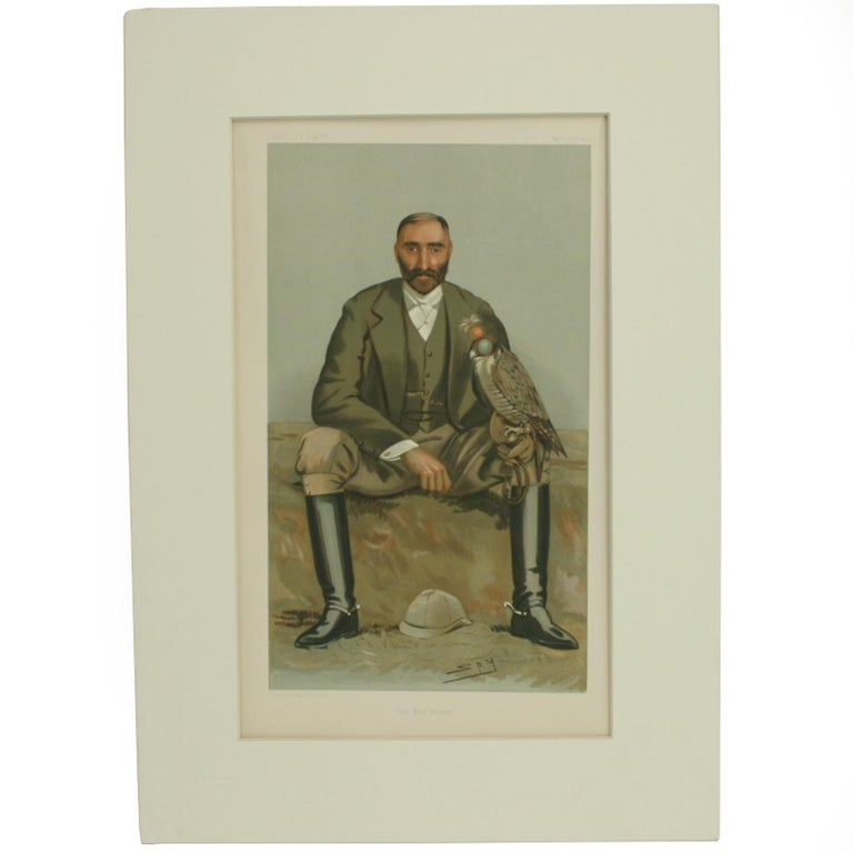 Antique Vanity Fair Falconry Print 'The New Forest' For Sale
