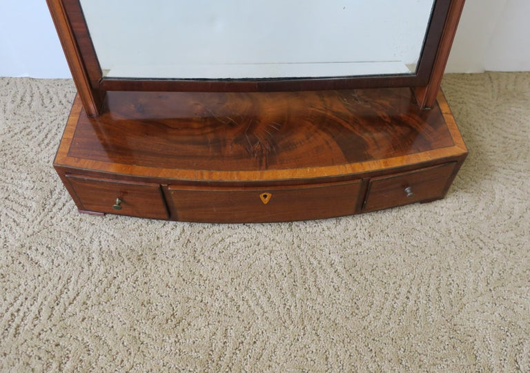 Antique Vanity Mirror with Drawers For Sale 9