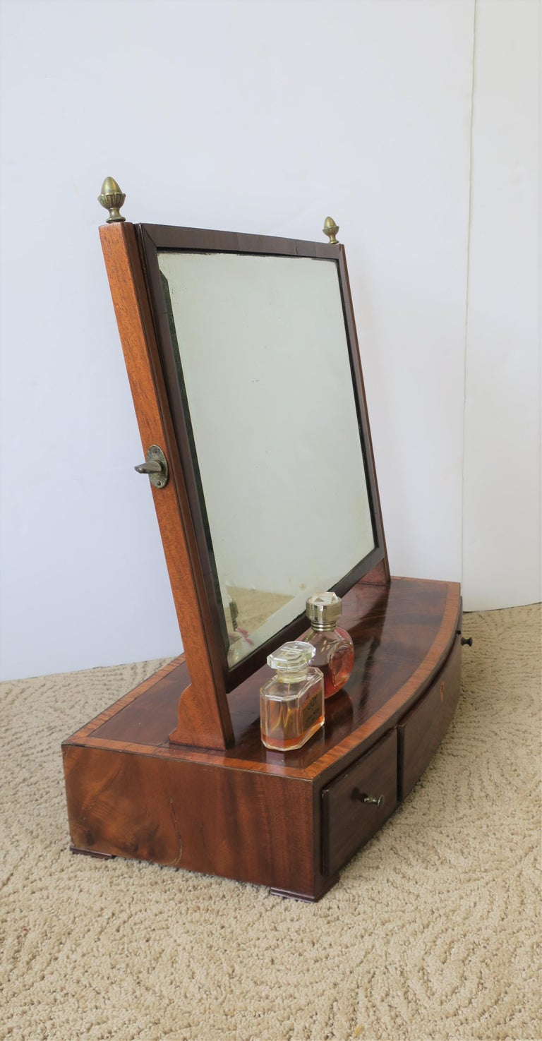 Antique Vanity Mirror with Drawers For Sale 10