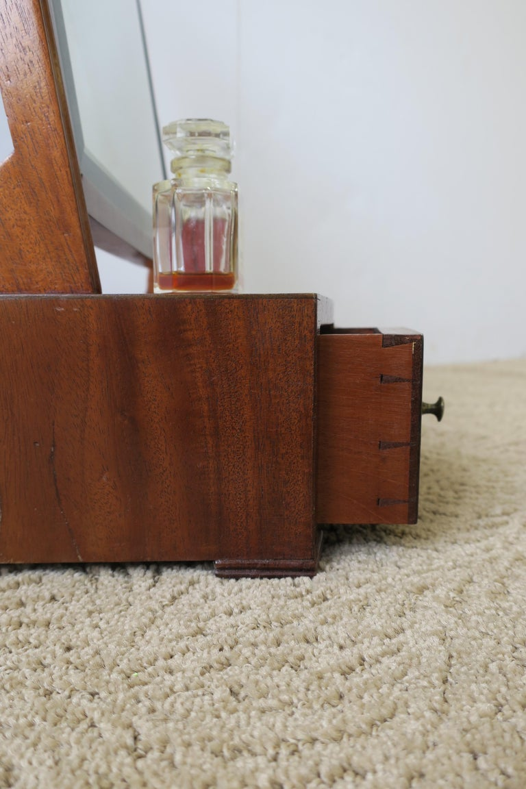 Antique Vanity Mirror with Drawers For Sale 11