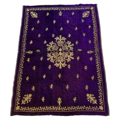 Antique Velvet and Gold Embroidery Textile