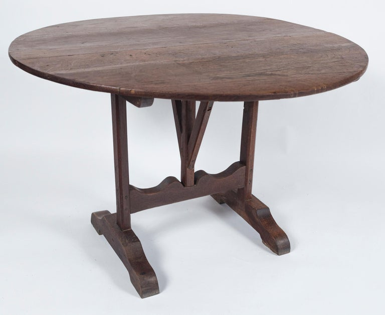 French Antique Vendange 'Wine Tasting' Table, Late 19th Century, France For Sale