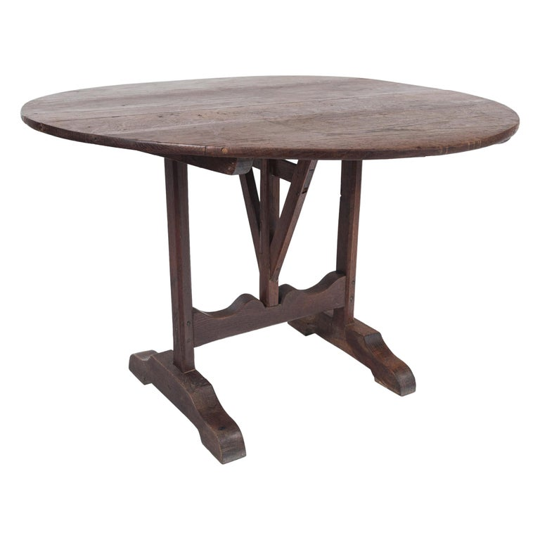 Antique Vendange 'Wine Tasting' Table, Late 19th Century, France For Sale