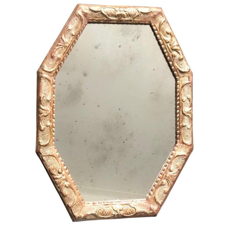 Antique Venetian Gilt Octagonal Mirror For Sale