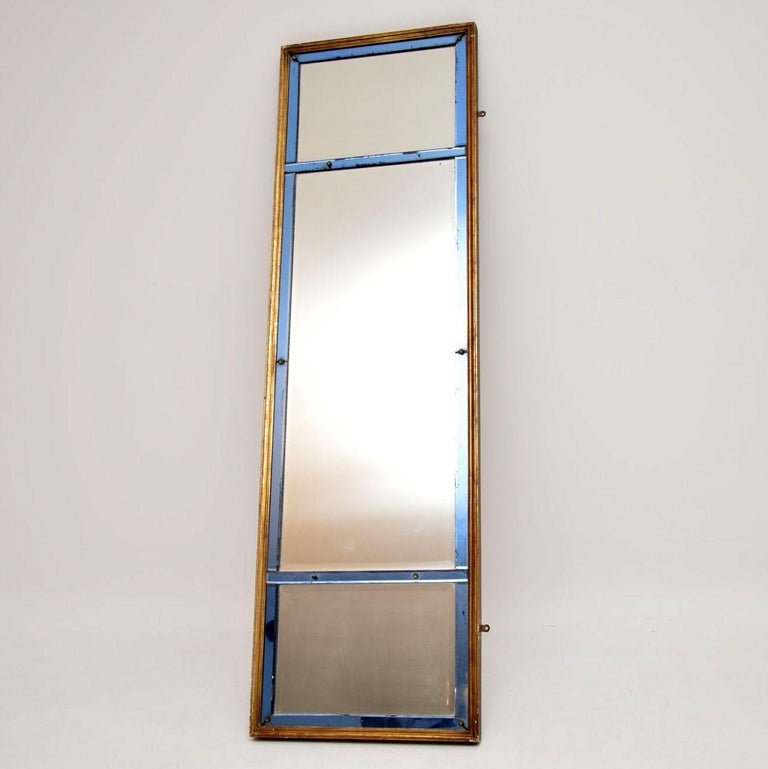 Late 19th Century Antique Venetian Giltwood Colored Glass Mirror For Sale