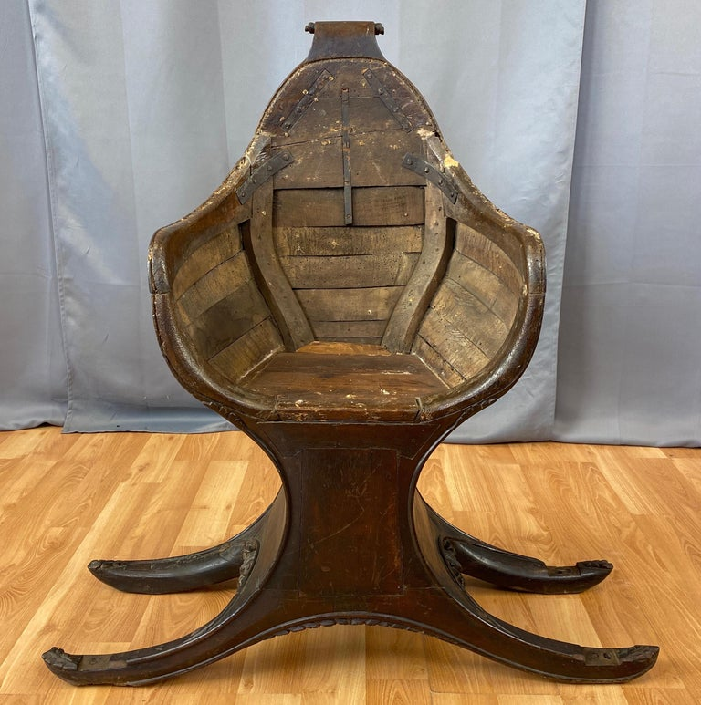 Antique Venetian Gondola Chair, 18th C. For Sale 7