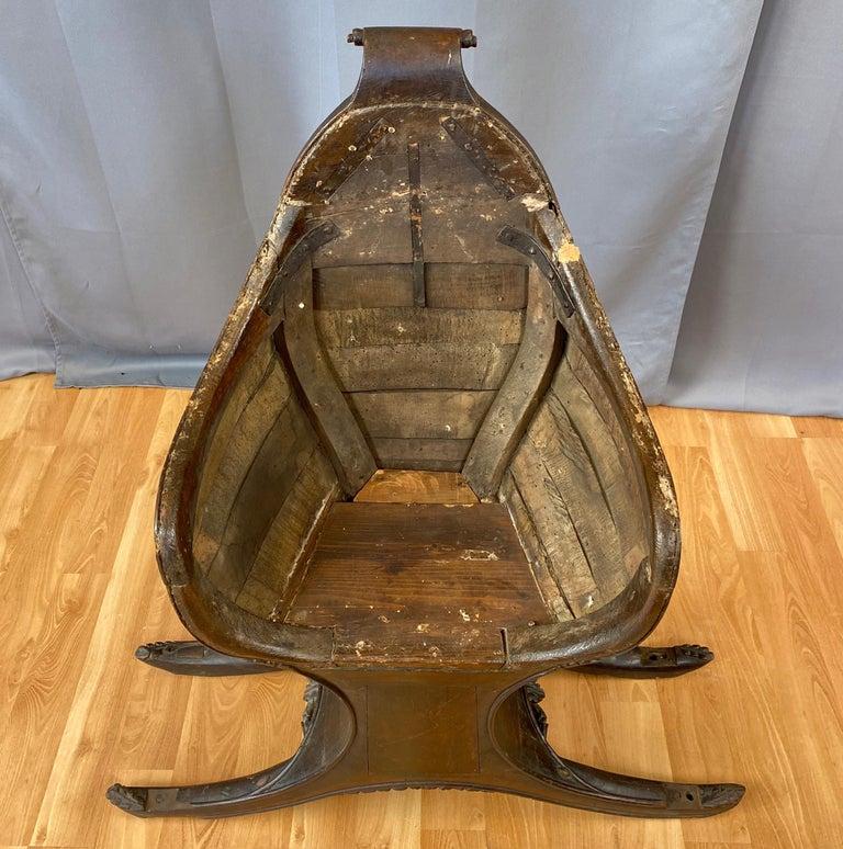 Antique Venetian Gondola Chair, 18th C. For Sale 8