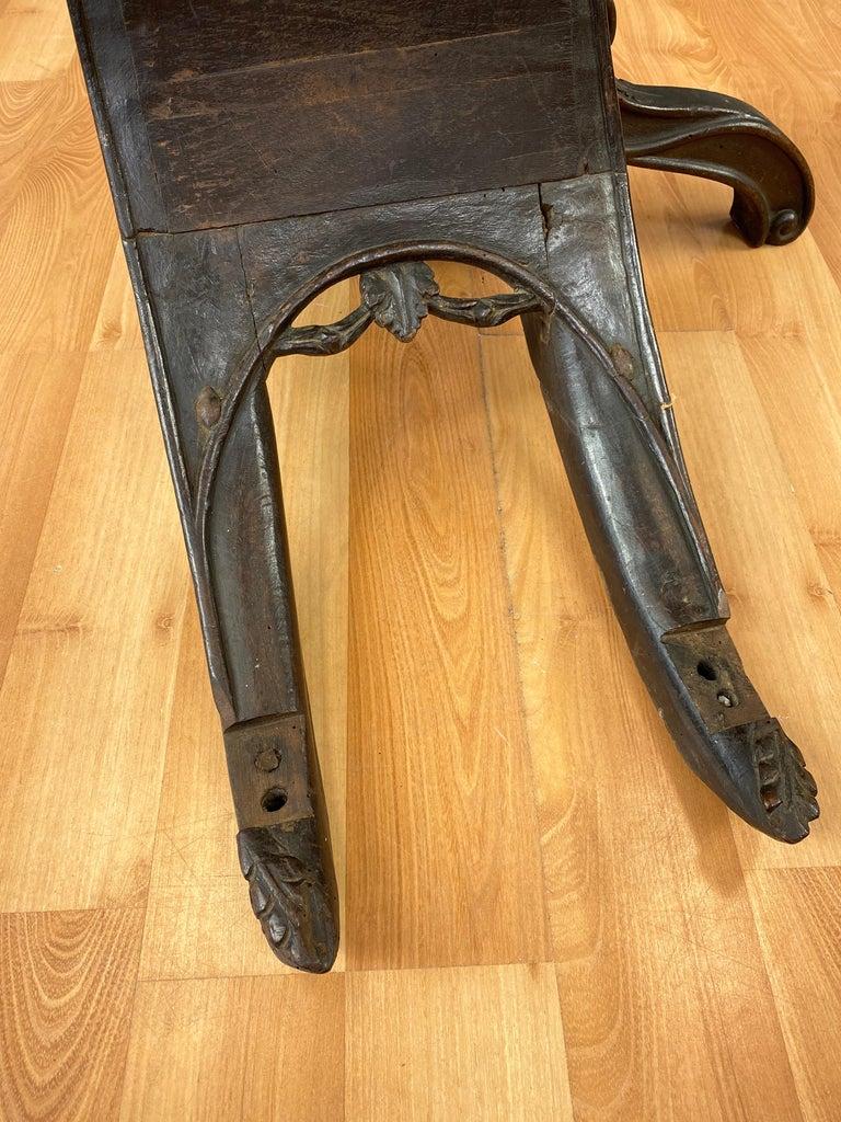 Antique Venetian Gondola Chair, 18th C. For Sale 1