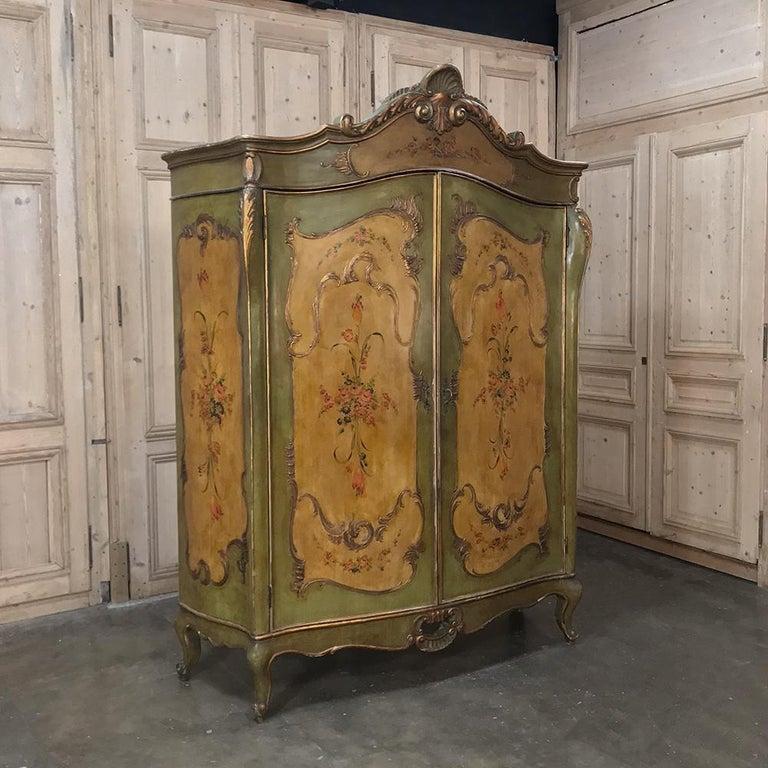 Antique Venetian Painted Baroque Five-Piece Italian ...