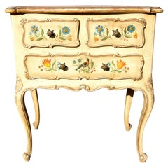 Antique Venetian Painted Commode Louis XV Style