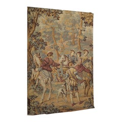 Antique Verdure Tapestry, French, Decorative Panel, Wall Covering, Victorian