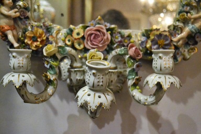 19th Century Antique Very Fine Dresden Mirror For Sale