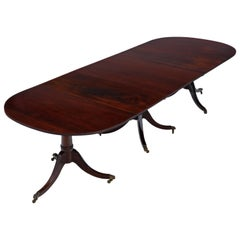 Antique Very Large Fine Quality ~10' Cuban Mahogany Extending Dining Table