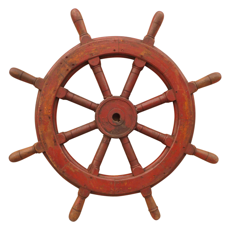Antique Ship Vessel Handle Wheel