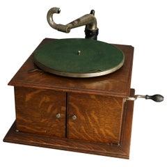 Antique Victor Victrola IV Oak Phonograph 'Missing Reproducer', Circa 1900