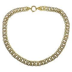 Antique Victorian 14k Yellow Gold Chain Necklace