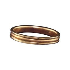 Antique Victorian 14k Yellow Gold Engraved Wedding Band