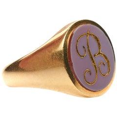 Antique, Victorian, 18 Carat Yellow Gold, Signet Ring
