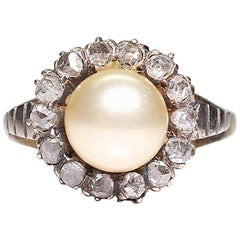 Antiker Viktorianischer 18 Karat Gold Diamant Ring