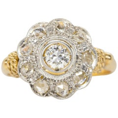 Antique Victorian 18 Karat Gold Diamond Ring