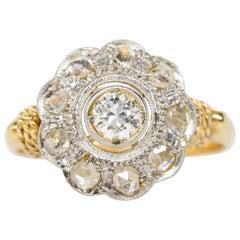 Antique Victorian 18 Karat Gold Diamonds Ring