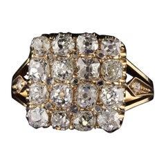 Antique Victorian 18 Karat Yellow Gold Diamond Engagement Ring