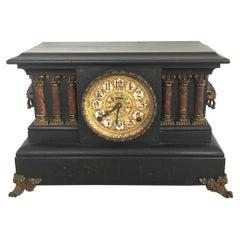 Antique Victorian 1860 Eight Day Mantel Clock