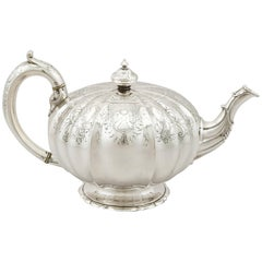 Antique Victorian 1862 Sterling Silver Teapot