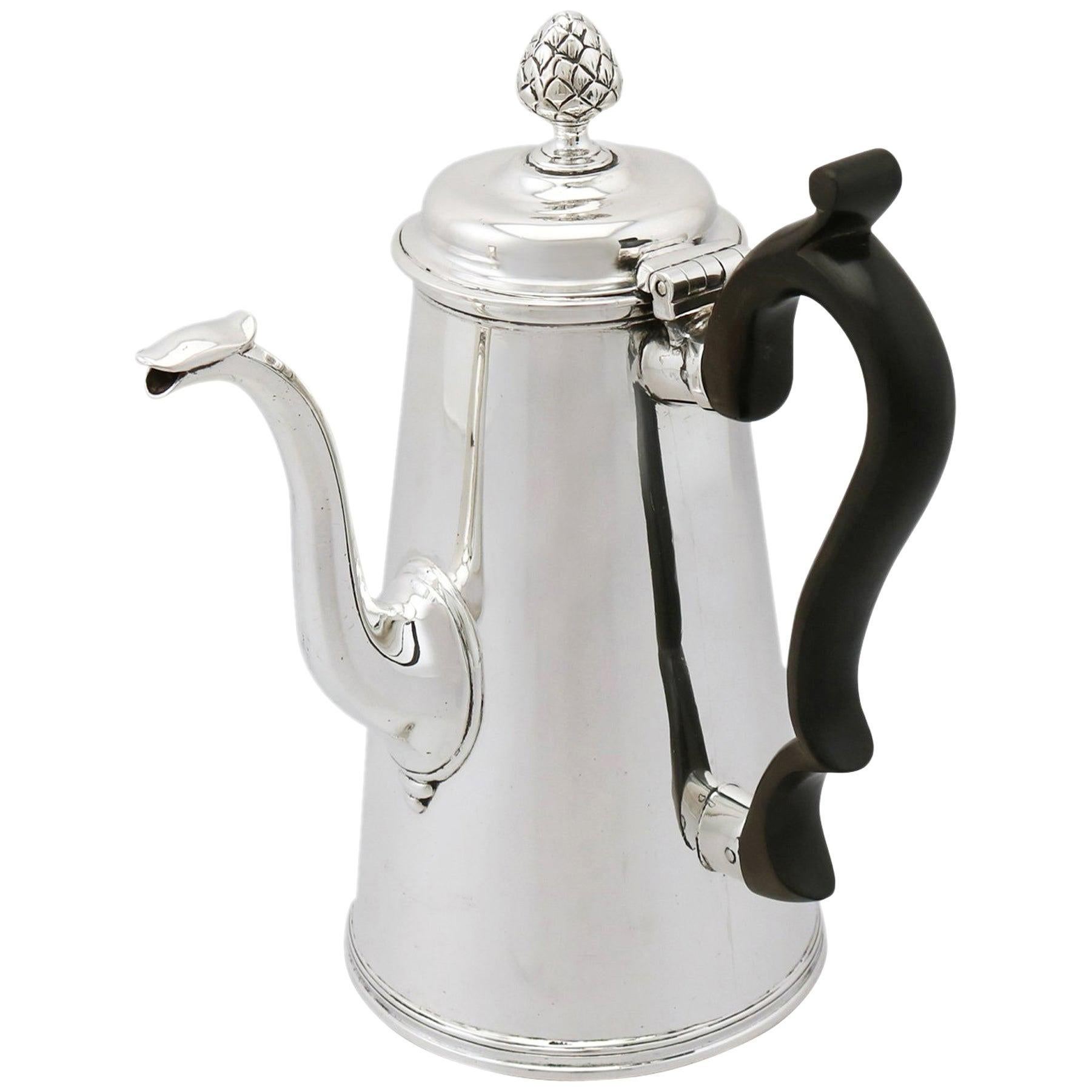 Antique Victorian 1891 Sterling Silver Coffee Pot