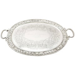 Antique Victorian 1894 Sterling Silver Tea Tray by Mappin & Webb Ltd