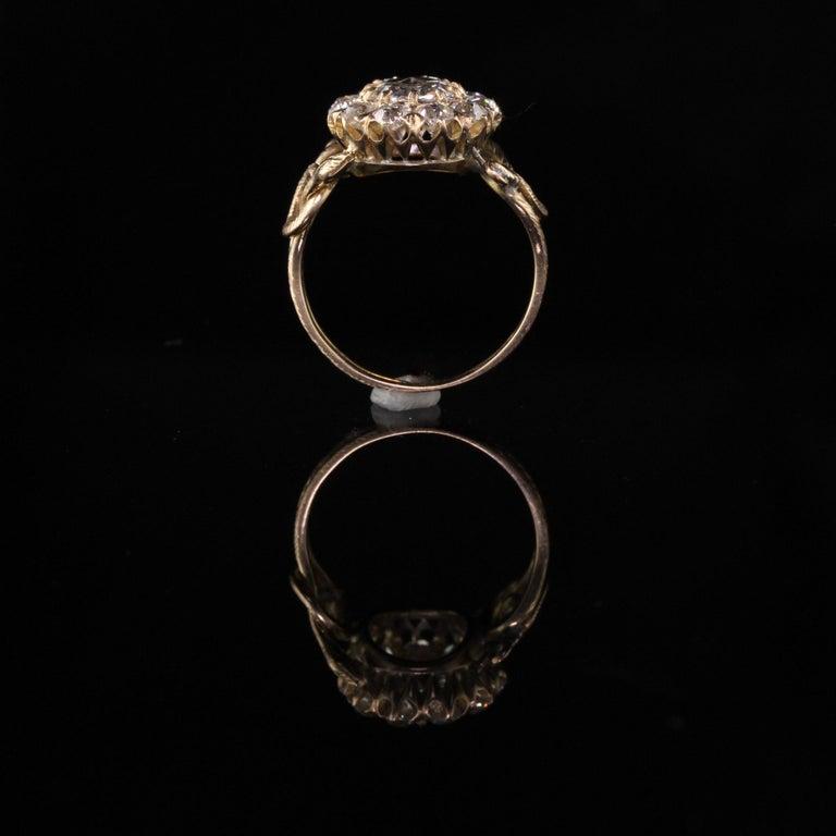 Antique Victorian 18 Karat Yellow Gold Rose Cut Diamond Engagement Ring For Sale 4