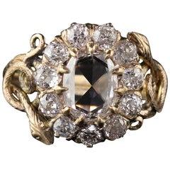 Antique Victorian 18 Karat Yellow Gold Rose Cut Diamond Engagement Ring