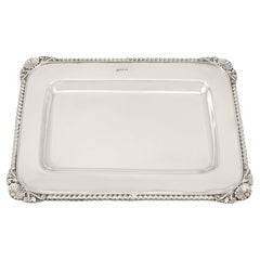 Antique Victorian 1900 Sterling Silver Drinks Tray