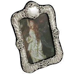 Antique Victorian 1900 Sterling Silver Photograph Frame by Henry Matthews