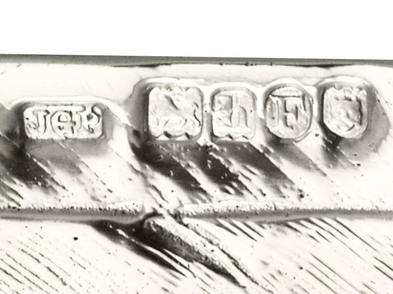 Antique Edwardian 1903 Sterling Silver Rock Dove / Pigeon Sugar Box For Sale 3