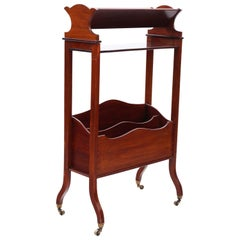 Antique Victorian 19th Century Mahogany Bookcase Book Trough