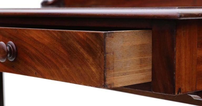 Antique Victorian 19th Century Mahogany Writing Desk Dressing Table 1