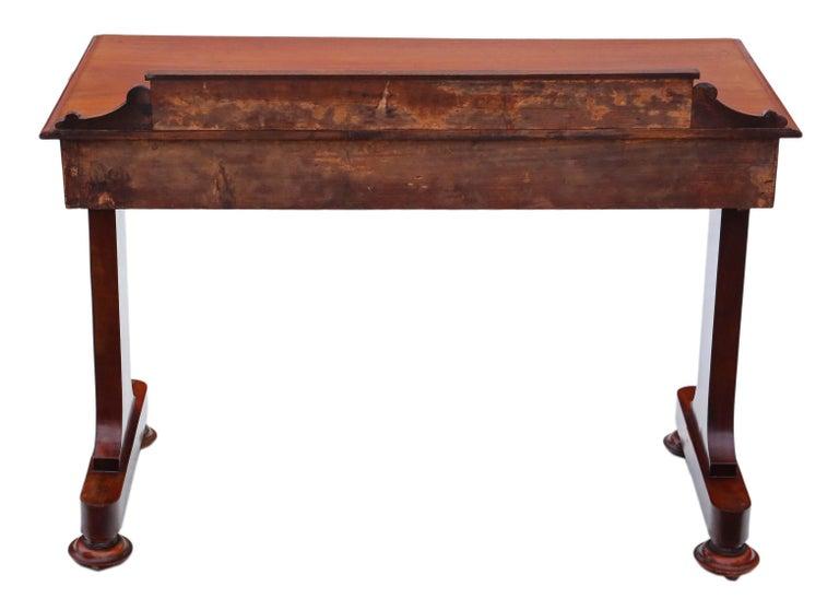 Antique Victorian 19th Century Mahogany Writing Desk Dressing Table 4