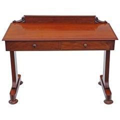 Antique Victorian 19th Century Mahogany Writing Desk Dressing Table