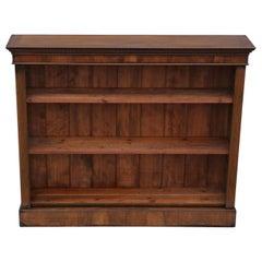 Antique Victorian 19th Century Walnut Adjustable Bookcase